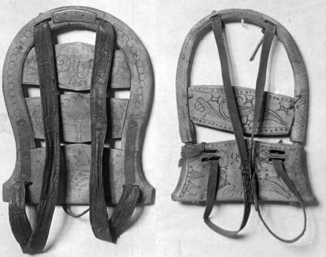 External frame backpacks. Via www.speerschleuder.de Since Őtzi load carrying frame structures have been documented in most of the world. In the fjords and isolated Norwegian valleys they were known as 'Hjuringsmeis'; the ones below date back to the early 1800's.