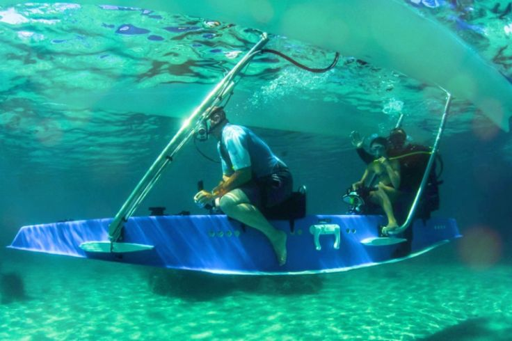 Platypus is an innovative watercraft that combines boating and sailing with diving.