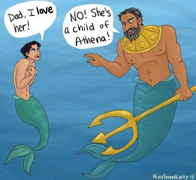 Ha ha hilarious Percy Jackson and little mermaid crossover