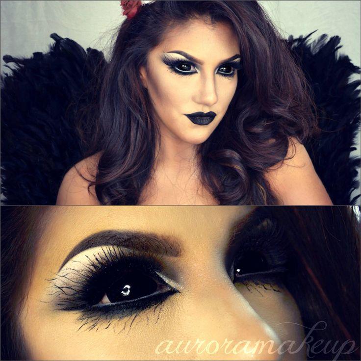 Maquillaje ángel negro