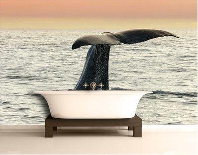 Wal beim Tauchgang