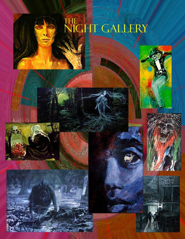 Night Gallery TV Show. Love this series! The paintings would be perfect decor for Halloween!