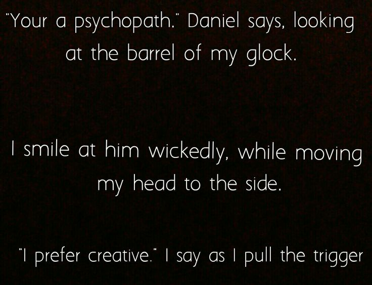 FORGOTTEN quote. Daniels death at the hands of Lexi.