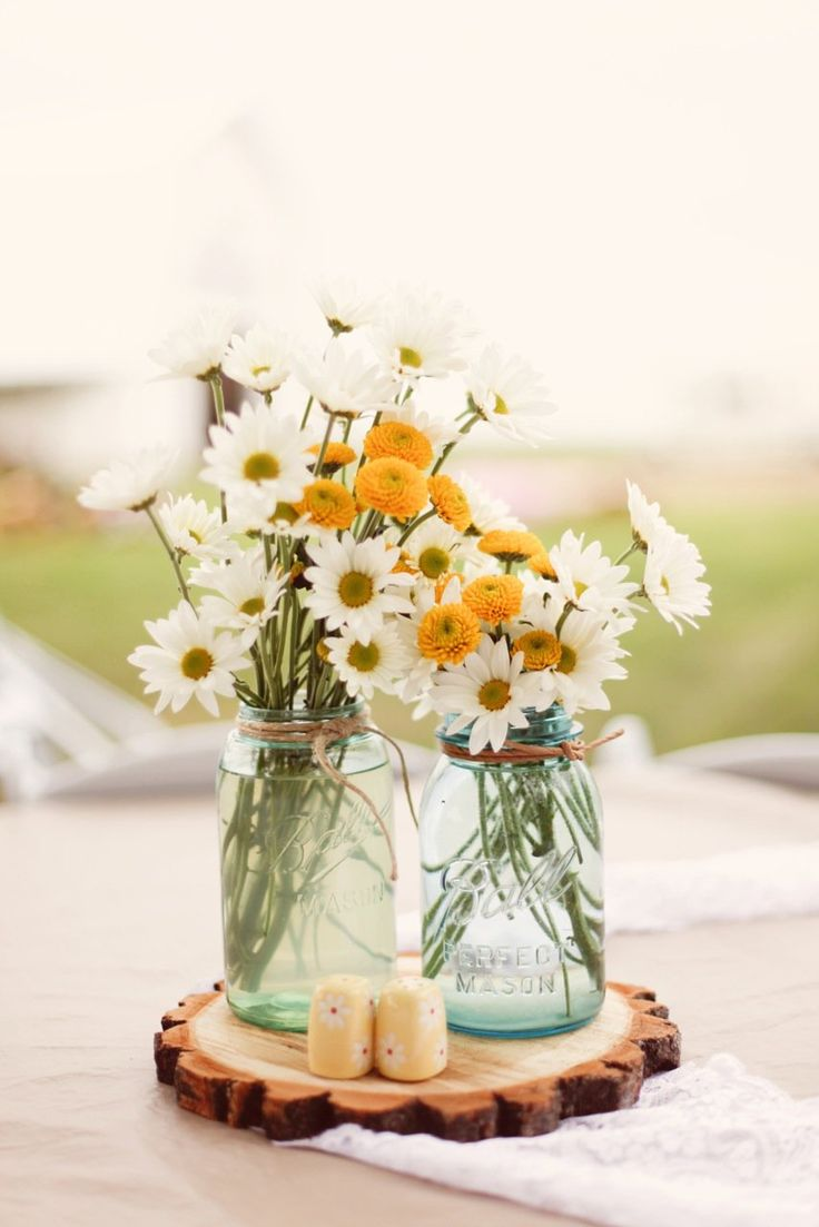 Country Casual Centerpieces