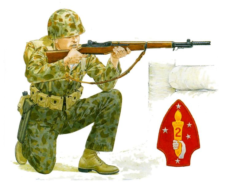 Marine 2nd Division rifleman, pin by Paolo Marzioli
