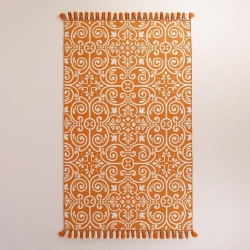 One Of My Favorite Discoveries At WorldMarket.com: Orange Barcelona Tiles  Indoor Outdoor