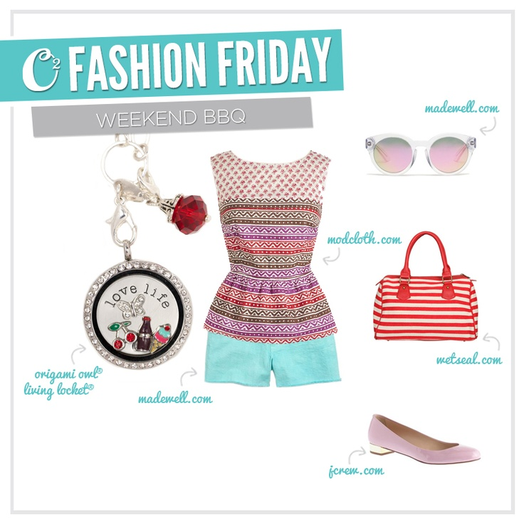 {Fashion Friday} Time to break out your casual summer wardrobe! We love this colorful look for spicing up your next BBQ.