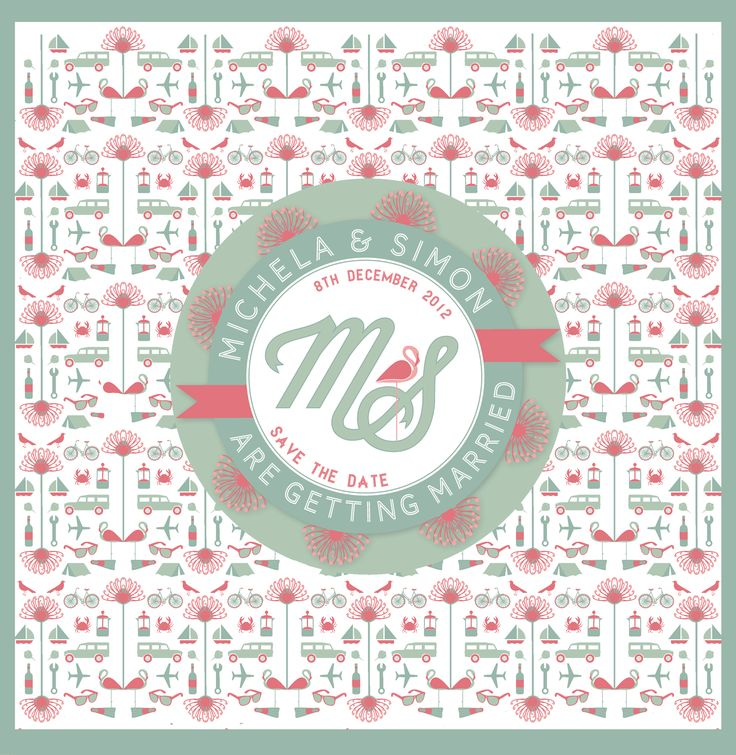 STD, WEDDING, GRAPHIC DESIGN, SAVE THE DATE, DESIGN, PATTERN, PERSONALISED