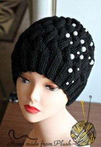 """All-all-all of hat pattern """"Braids"""""""