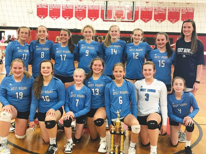 West Rowan Wins Middle School Volleyball Title Salisbury Post Middle School School Volleyball