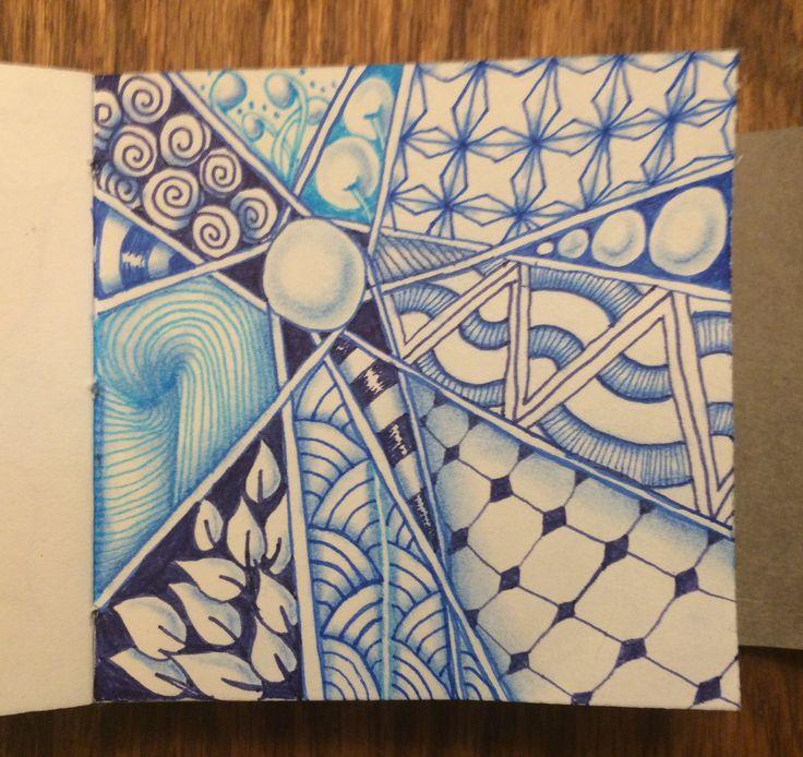 | Zentangle | Zenart | Zendoodle | the100dayproject | I Teach Tangling | Tangling | Delft Blue |