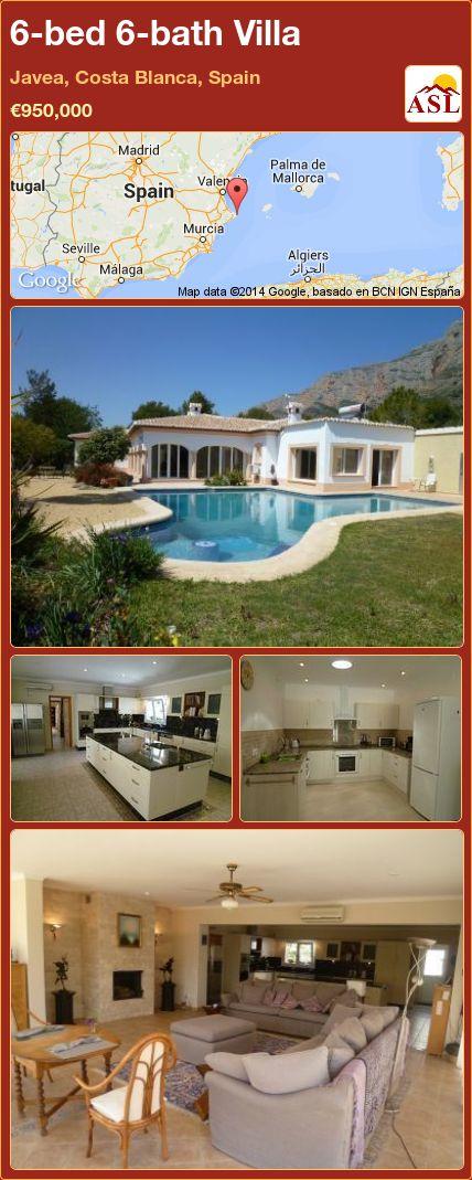6-bed 6-bath Villa in Javea, Costa Blanca, Spain ►€950,000 #PropertyForSaleInSpain