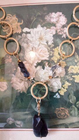 Gilded hoop necklace