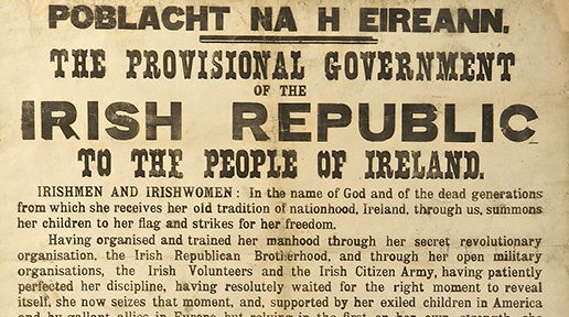 The Proclamation of the Irish Republic - the most important thing to come out of the Easter Rising, according to Gerry Adams.