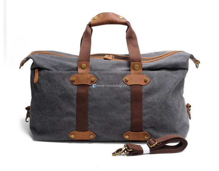 Canvas Weekender Bag Mens Overnight Bag