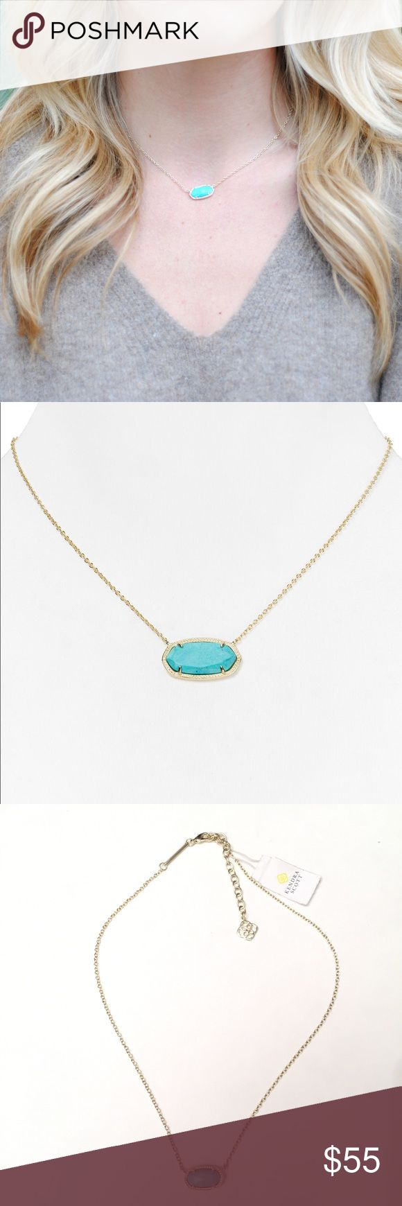 Kendra Scott Elsa Gold & Turquoise Necklace NWT New With Tags. Perfect summer necklace! Kendra Scott Jewelry Necklaces
