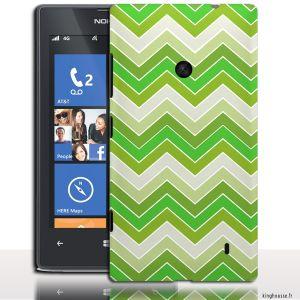 Coque telephone portable Nokia Lumia 520 Zig Zag Vert - Coque  pour Smartphone Nokia 520 Lumia. #Nokia520 #Lumia #ZigZag #Vert