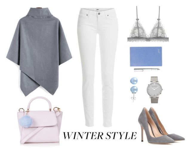 """""""Winter Style"""" by a-hint-of-nutmeg ❤ liked on Polyvore featuring Topshop, Paige Denim, Gianvito Rossi, Smythson, Larsson & Jennings, Lamy, GetTheLook, white, winterfashion and winterstyle"""