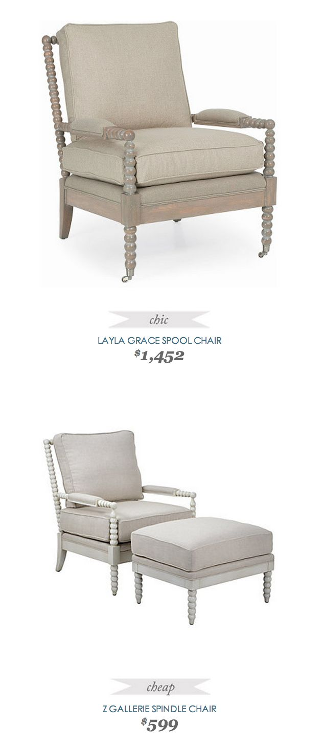 #LaylaGrace Spool Chair $1,452 - vs - #ZGallerie Spindle Chair $599