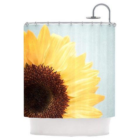 "KESS InHouse Susannah Tucker ""Sunshine Sunflower"" Shower Curtain"