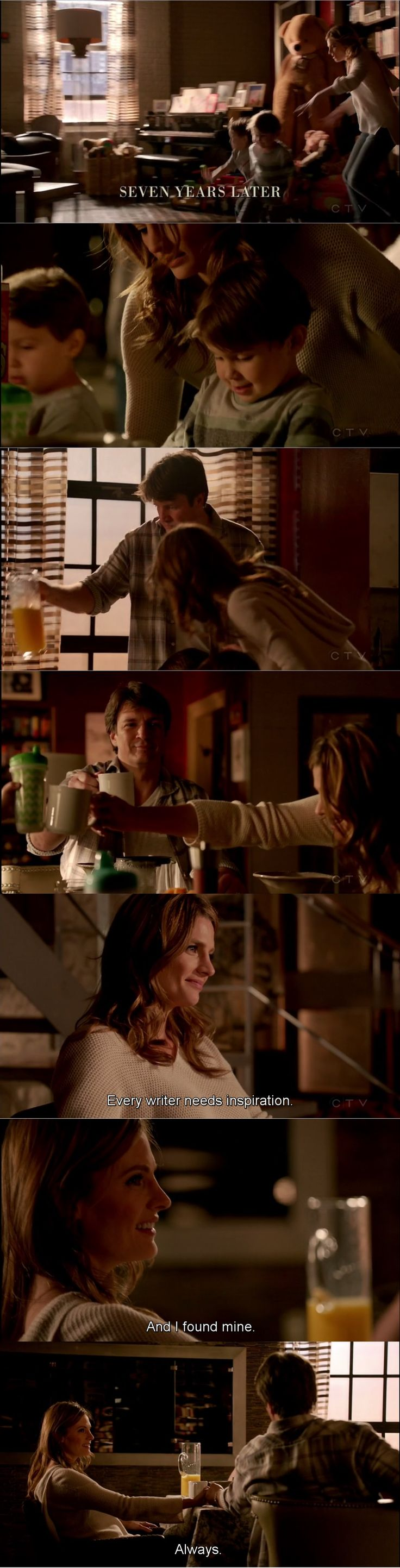 """Every writer needs inspiration. And I found mine. Always"" - Rick, Kate and the little Castles #Castle"