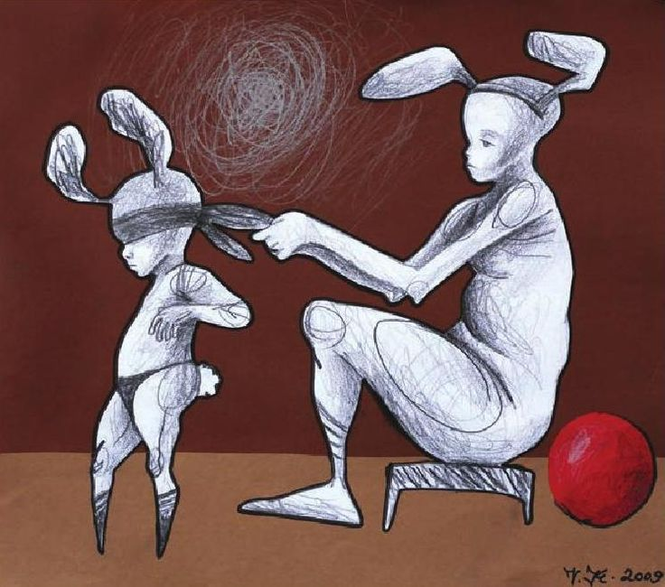 Art brut zo zbierky Ligy za duševné zdravie 2010 by knut_knut