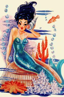 Vintage Mermaid Art