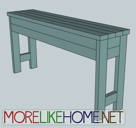 Ana white build a 2x4 chunky console free and easy diy for 2x4 furniture plans free