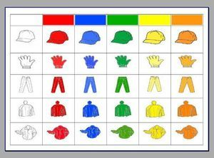 Kleding op kleur sorteren + hoeveel knopen zitten er aan welk kledingstuk