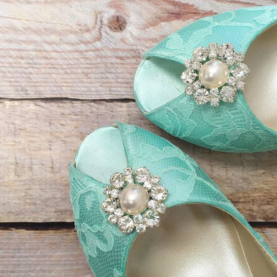 Aqua Wedding Shoes, Blue Wedding Wedding, Something Blue, Peep Toe Bridal Heels…