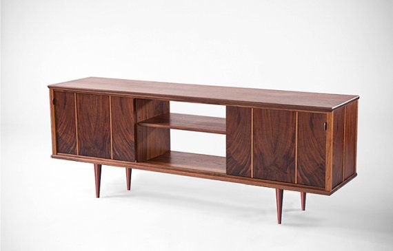 mid century modern media console chevron. Black Bedroom Furniture Sets. Home Design Ideas