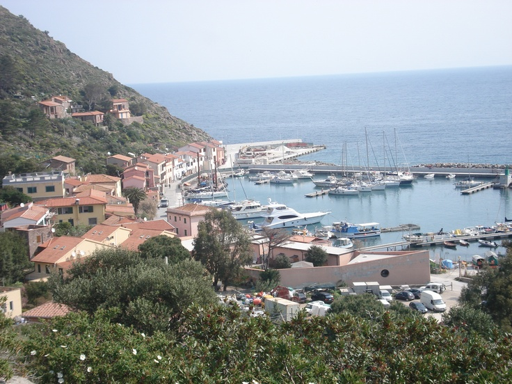 View from the top of Capraia