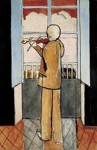"""""""Le violoniste à la fenêtre"""" (1918) - Henri Matisse - Petit journal des artistes français"""