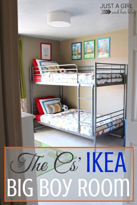 Awesome shared big boy room! So many inspiring ideas! | Just a Girl and Her Blog