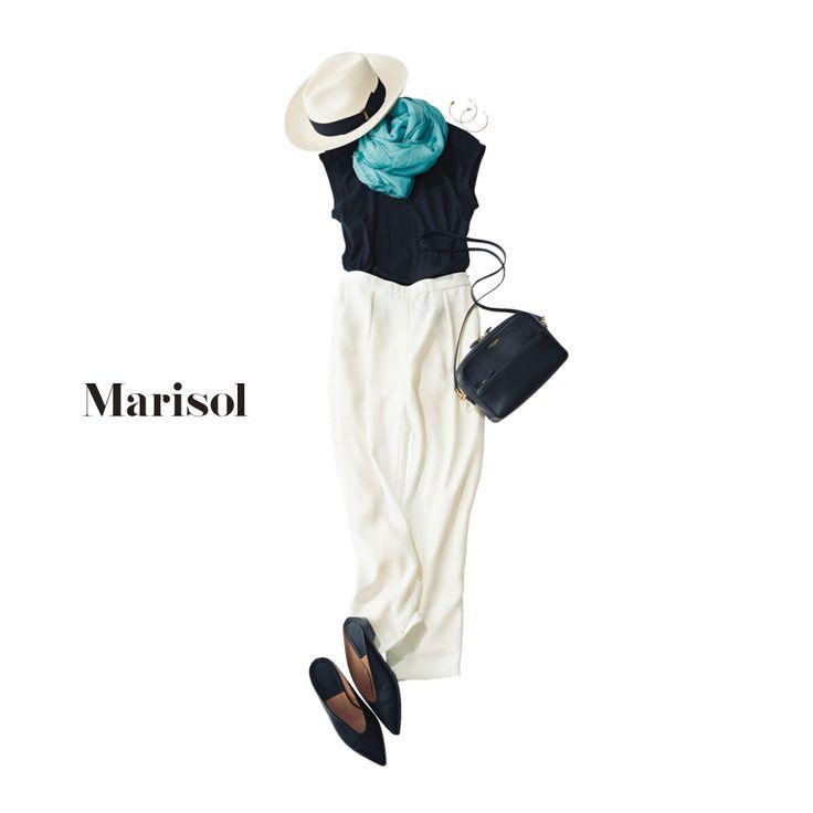 馴染みのフレンチの立食パーティには両手が自由になる肩がけバッグでMarisol ONLINE|女っぷり上々!40代をもっとキレイに。