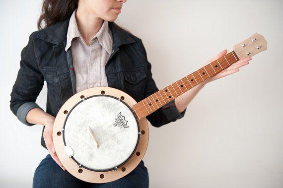 Banjo ukulele  banjolele by celentanowoodworks on Etsy, $700.00