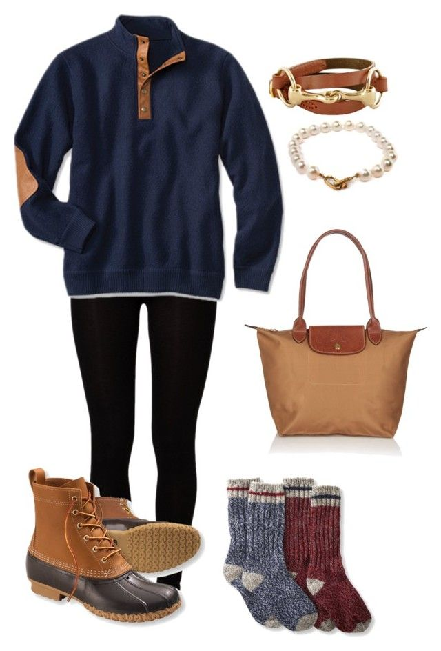 """I can't wait for my Bean boots to come in!!"" by sophisticated-cat ❤ liked on Polyvore featuring Majestic, L.L.Bean, Pearls Before Swine, Longchamp, women's clothing, women, female, woman, misses and juniors"