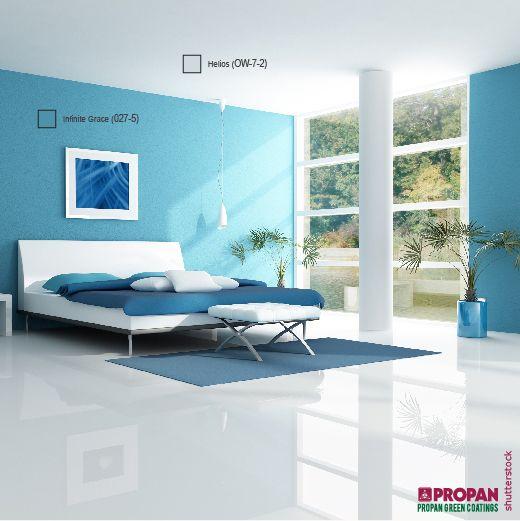 Skema warna biru adalah skema warna yang cocok untuk kamar anak-anak, tetapi juga dapat digunakan di ruang tamu atau dapur.   Apa warna kamar tidur kamu?