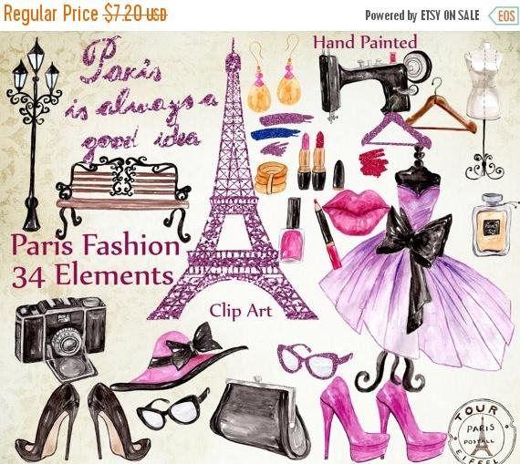 ON SALE 30% Paris fashion clipart: FASHION Clipart