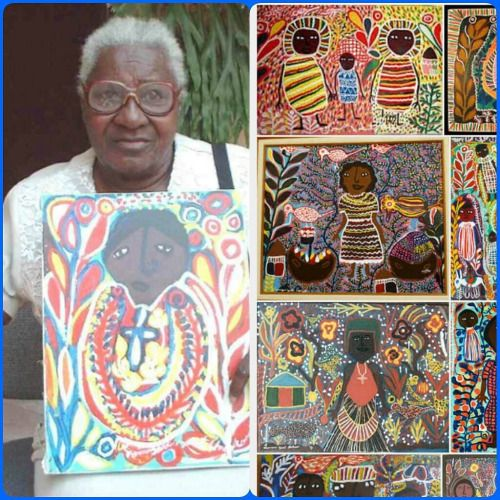 "haitianphoenix: ""Louisiane Saint Fleurant (1924–2005) was a Haitian female artist and painter. She was a founder of the peasant Saint Soleil art movement. Saint Fleurant's paintings often depict primitive maternal scenes of females, children, trees, wildlife, and Haitian Vodou Loas. Her folk painting style is often colorful and vibrant and expresses a distinct female perspective on the Saint Soleil movement and Haitian Vodou art. Louisiane Saint Fleurant was born on September 11, 1924, in..."