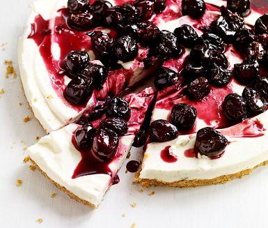Recept: Cheesecake med körsbär