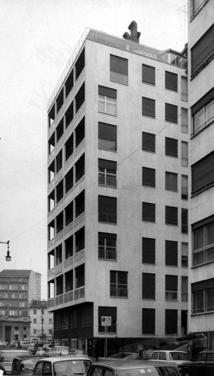 mario asnago e claudio vender - casa albergo, corso di porta nuova 52, milano, 1963