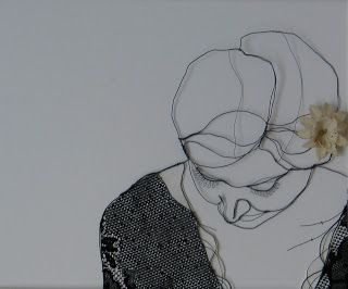 """""""The Woman Who Mastered The Art Of Discretion"""" Sculptural Drawing By Christina James Nielsen"""