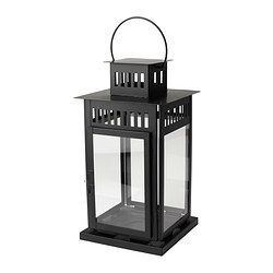 BORRBY Lantern for block candle - IKEA Line front walkway for party with candle lit lanterns