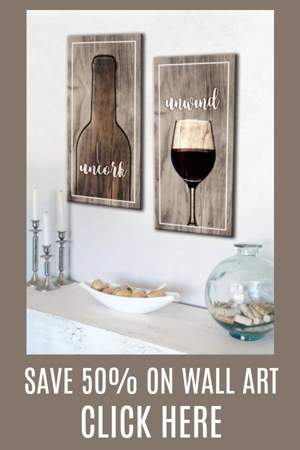 Kitchen Wall Art Unwind 2 Piece Wood Frame Ready To Hang Decor Paint For Walls Country