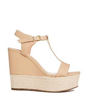 Image 1 ofMango Wedge T Bar Sandals