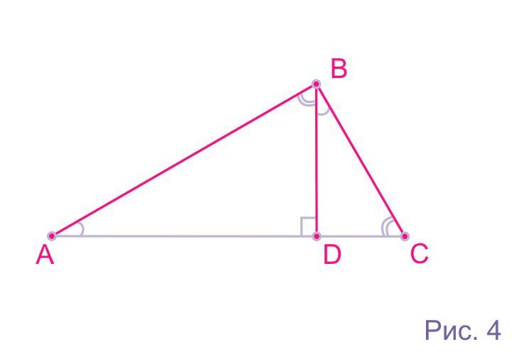 Высоты в прямоугольном треугольнике