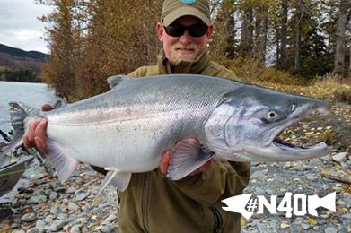 For those of you who visit our North 40 Fly Shop in Great Falls from time to time, you have probably met Fred Telleen. He helps us out in the shop during his off season from guiding on the Kenai in Alaska.