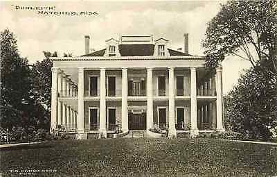 "Natchez Mississippi MS 1920s ""Dunleith"" Antebellum Home Antique Vintage Postcard"