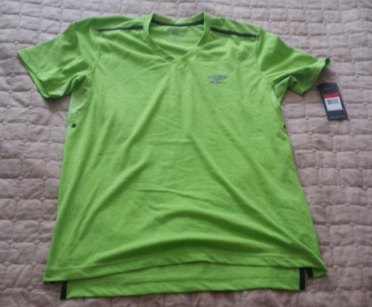 #men accessories ebay UMBRO men size S v-neck bright green t-shirt with ventilation cotton blend NWT withing our EBAY store at  http://stores.ebay.com/esquirestore